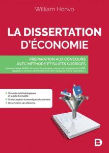 La dissertation d'économie